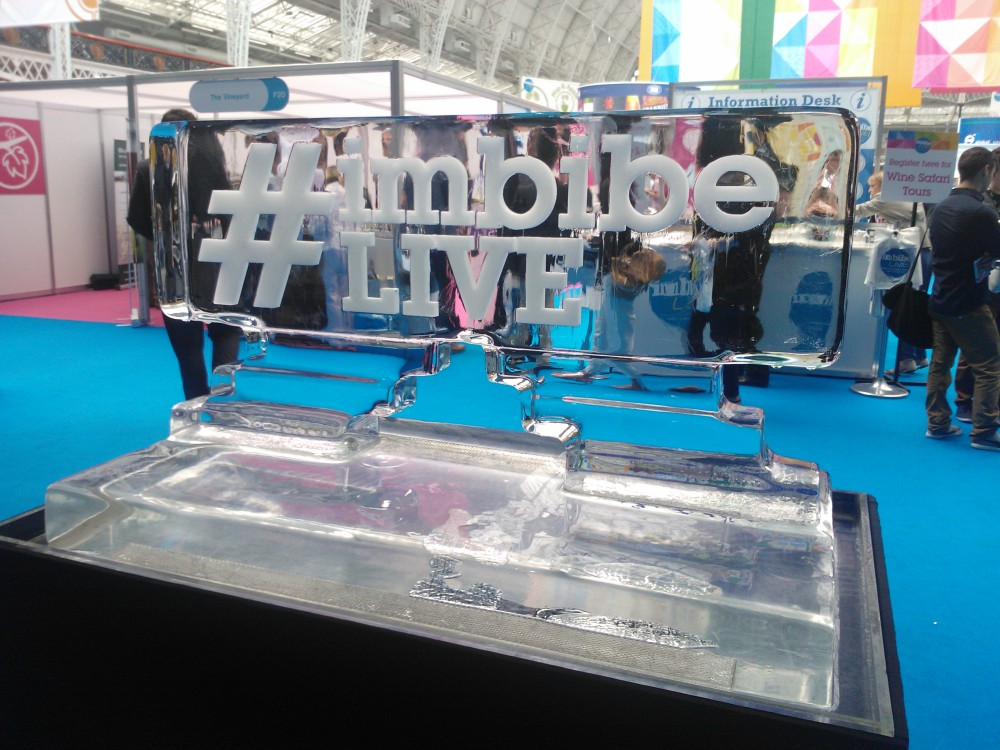 Imbibe Live Ice Sculpture